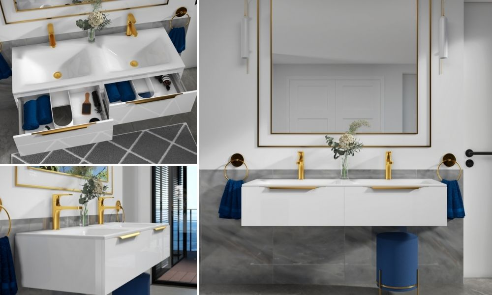 1200mm-White-Wall-Hung-Double-Sink-Vanity-Unit