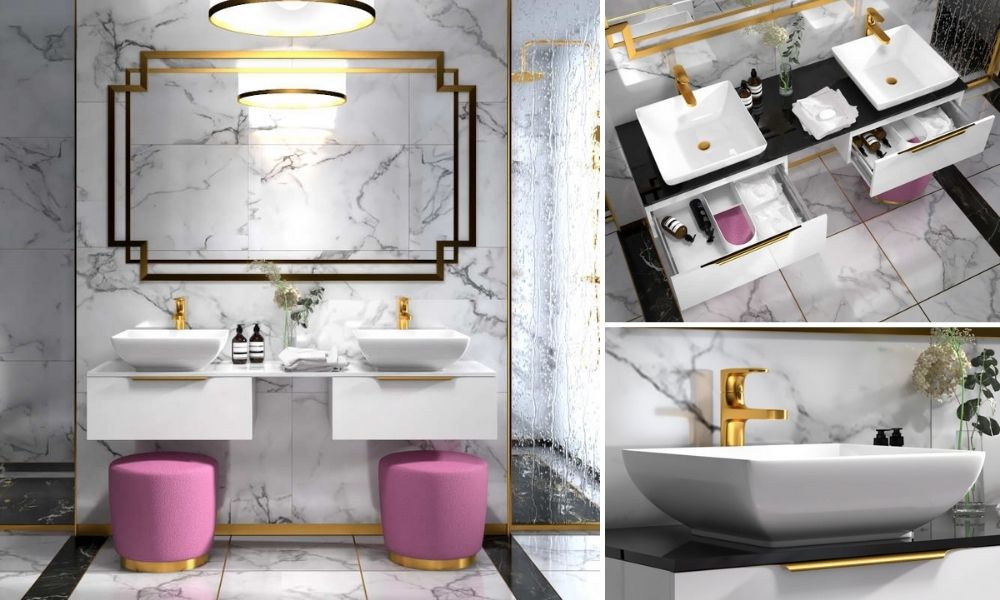 1500mm-White-Wall-Hung-Double-Basin-Vanity-Unit