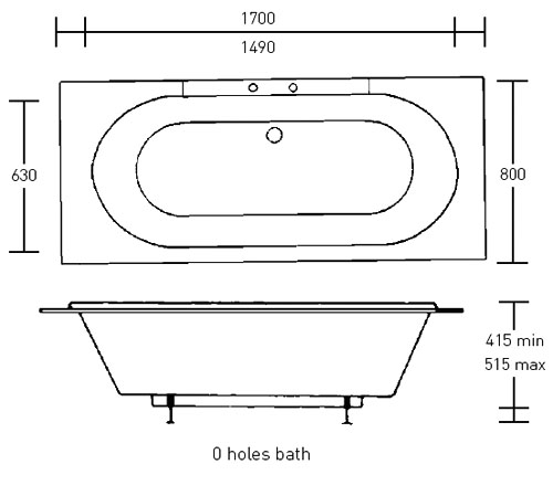 Imperial Windsor Double Ended Large Bath at Bathroom Cuity