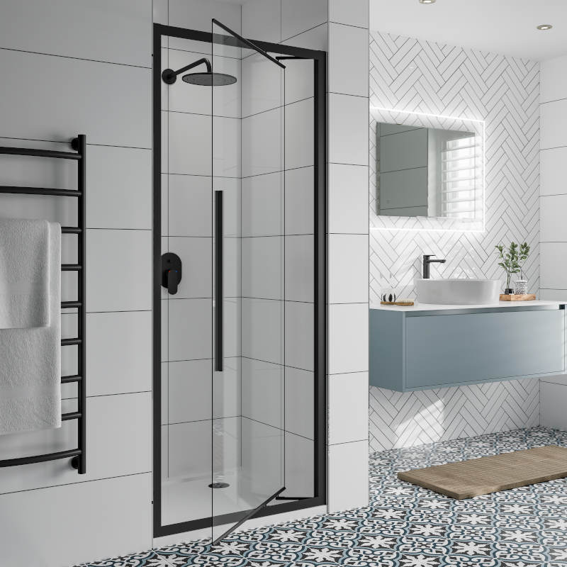 Jaquar-Inswing-Clear-Inswing-Black-Shower-Cubicle