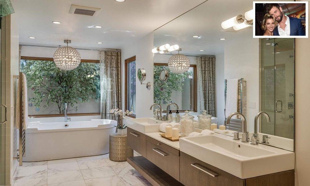 Chris Hemsworth and Elsa Pataky-Bathroom