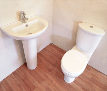 Toilet, Basin and Pedestal Bathroom Suites Available at Bathroom City