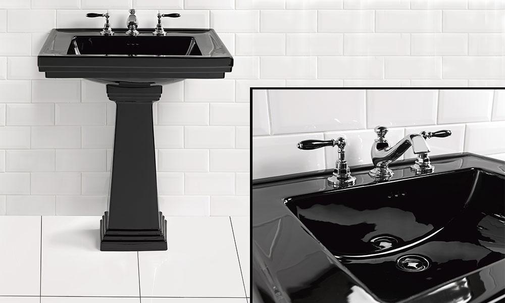 Black Wash Stand and Basin