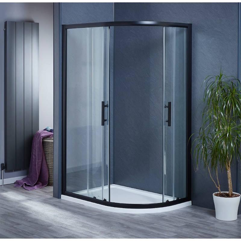 Bentley Black Quadrant Shower Enclosure