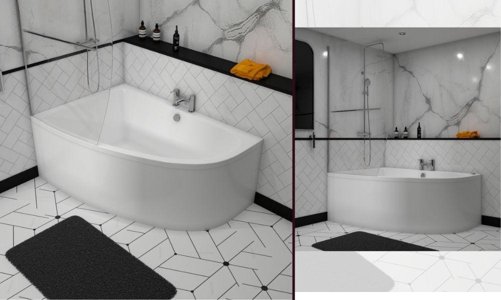 Clia Right Hand Corner Bath - 1500mm