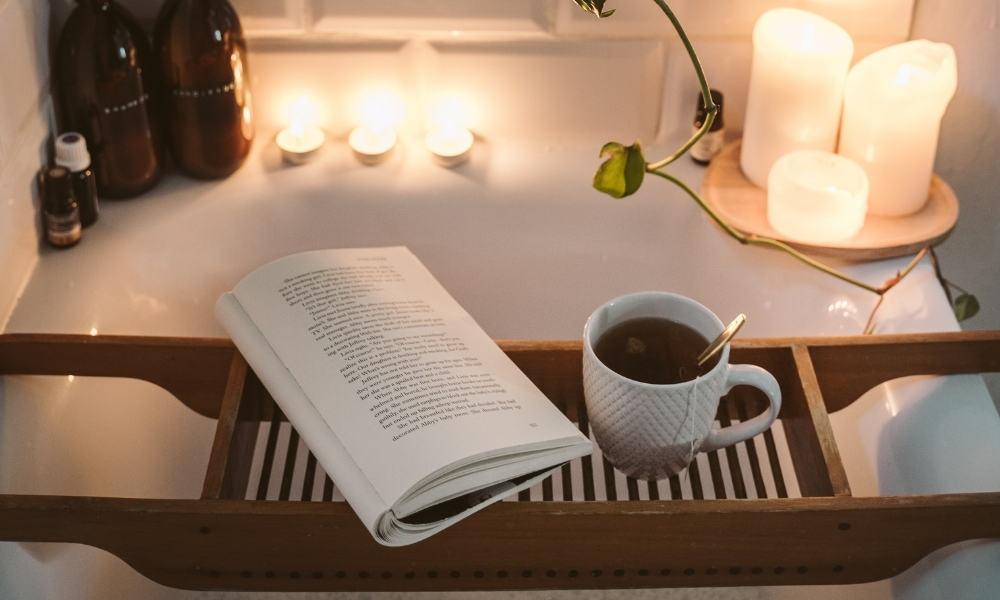 Enjoying Tea While Taking a Bath