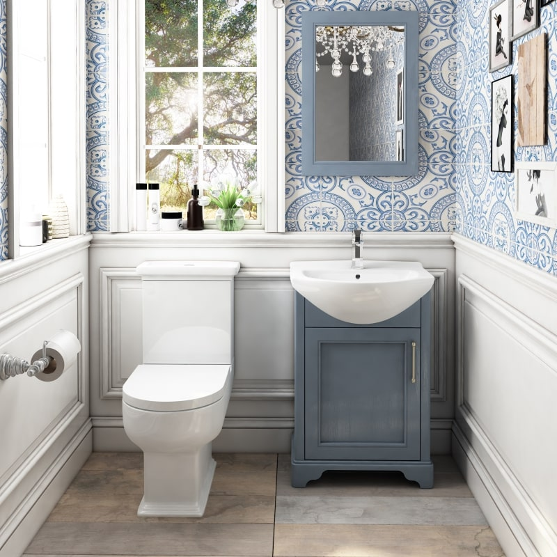 Traditional Old England Classy Bathroom Suite in Grey