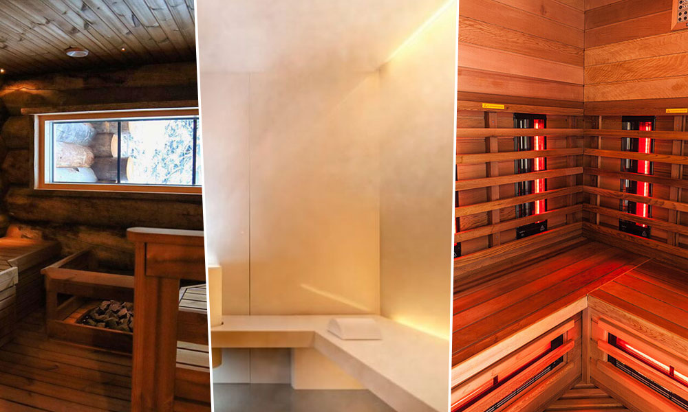 An Image Showing Different Types of Saunas in One Frame