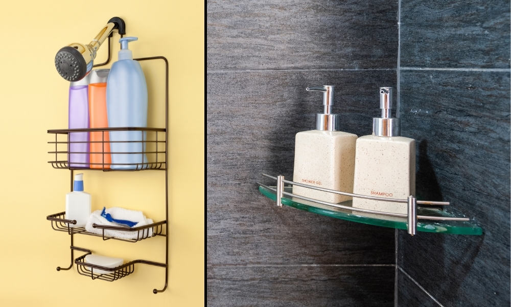 Install a Shower Shelf to Neatly Organise Bathing Products