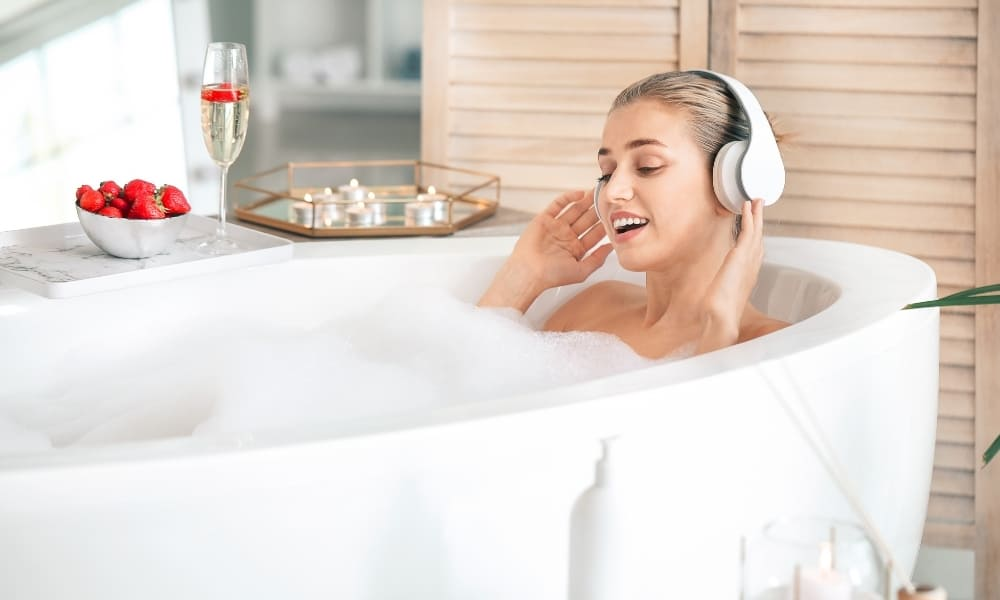 Listen To Music In the Bathroom