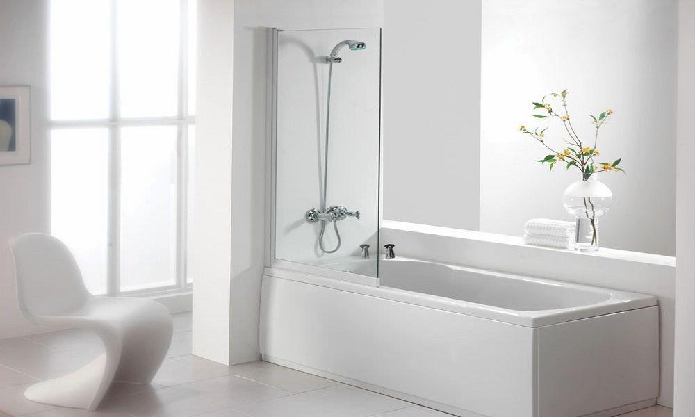 Modern-Compact-Shower-Bath-White