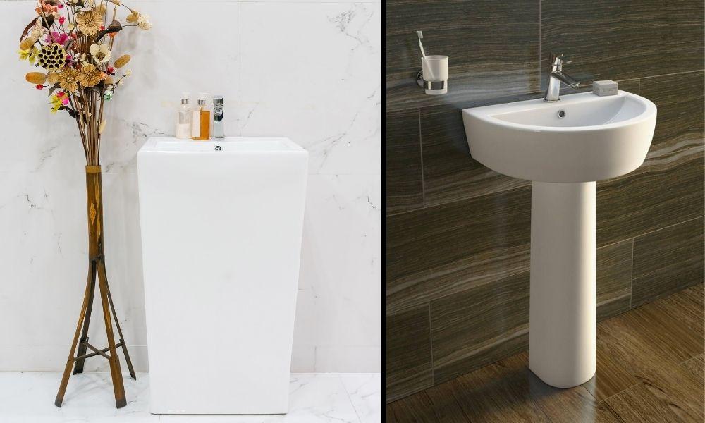 Image-Showing-Stylish-White-Pedestal-Basins