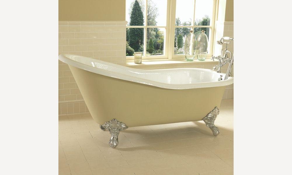Traditonal-Luxurious-Slipper-Bath-In-Beige-Cream-1500mm