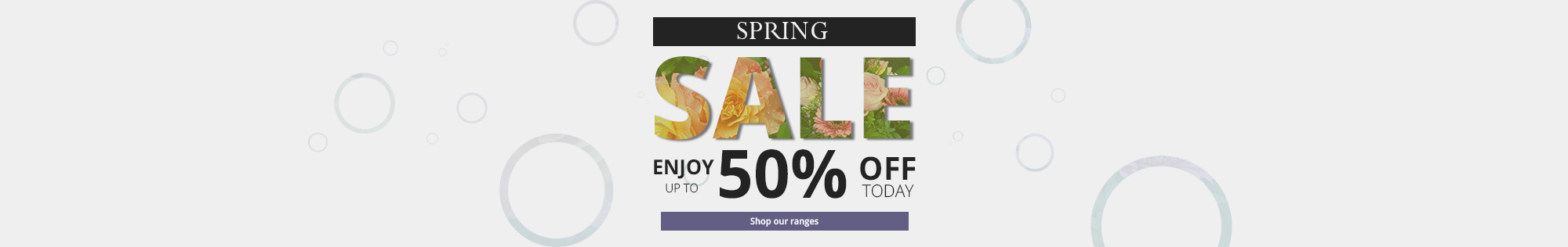 Sale - Enjoy up to 50% off ranges - Shop now