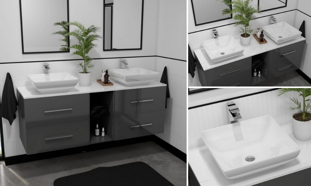 White-And-Grey-Wall-Hung-Double-Sink-Vanity-Unit-with-4-Drawers