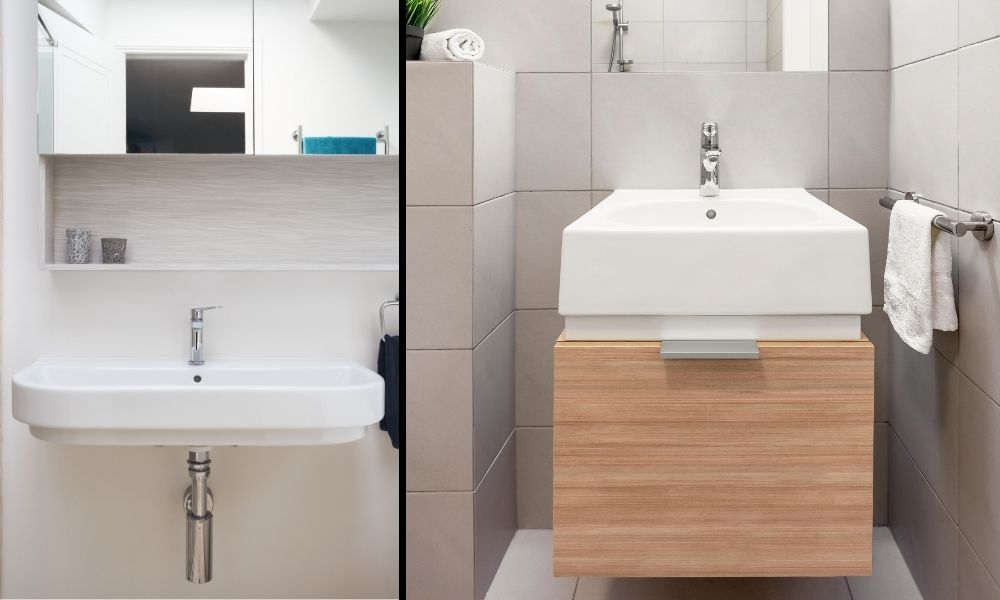 Image-showing-two-Wall-Mounted-Basin-Vanity-Units