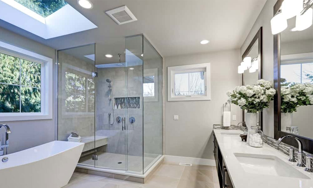 Image of a Well-Lit Bathroom
