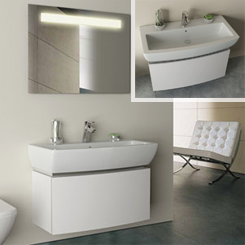 White Bathroom Furniture and White Vanity Units Available at Bathroom City
