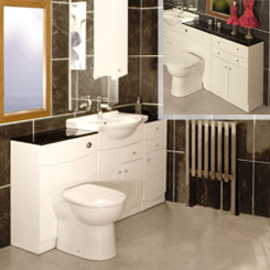 White Bathroom Furniture and White Slimline Bathroom Furniture at Bathroom City