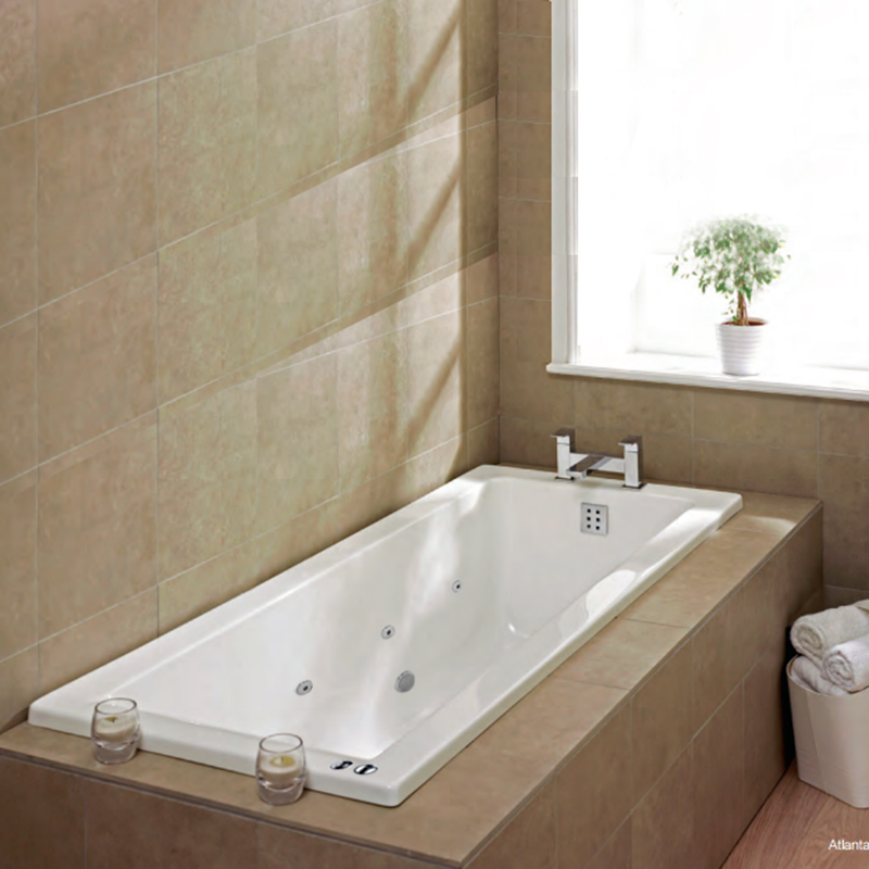 Baths bathtubs by bathroom city uk for Square baths