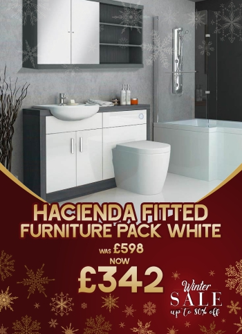 Hacienda fitted furniture pack white was £598 now £342 - Winter Sale