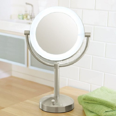 Small vanity mirror on a arm
