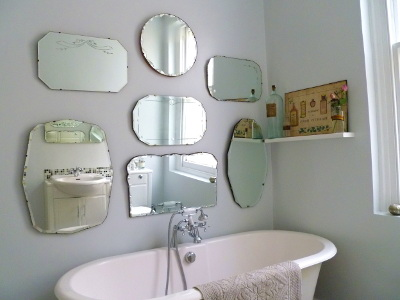 Brilliant Oncedailychic Venetian Mirrors In The Bathroom