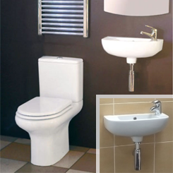 Slimline Compact Bathroom Suites available at Bathroom City