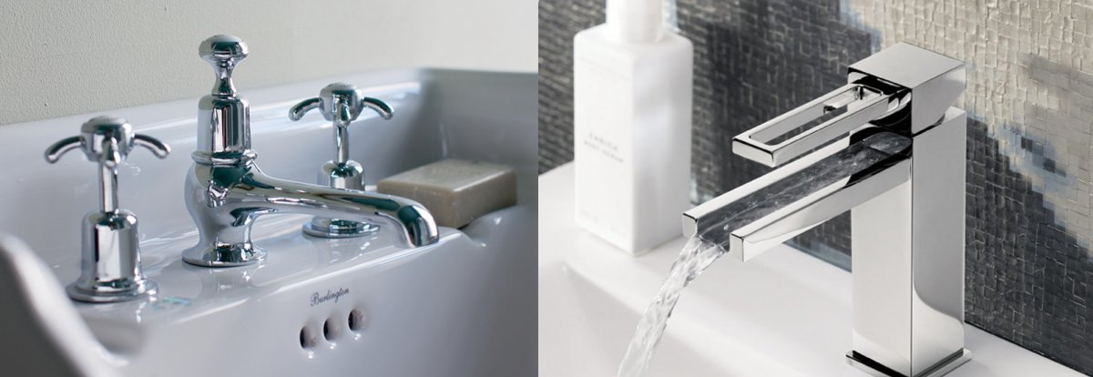 Contemporary and traditional taps at Bathroom City