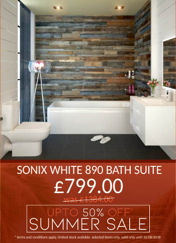 Summer Sale - Up to 50% off - Sonix White 890 Bath Suite - Now only £749