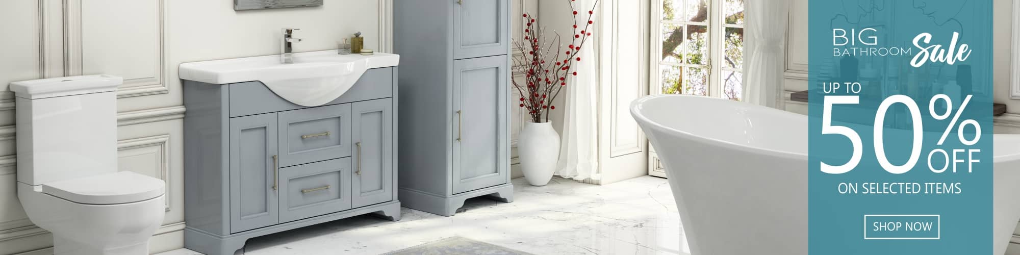 BIG Bathroom Sale - Up to 50% off on selected items - Shop Now