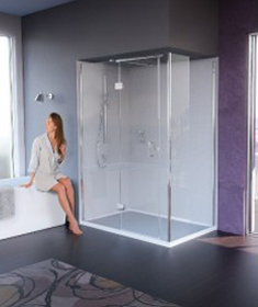 Matki Illusion Corner Hinged Shower Enclosure at Bathroom City