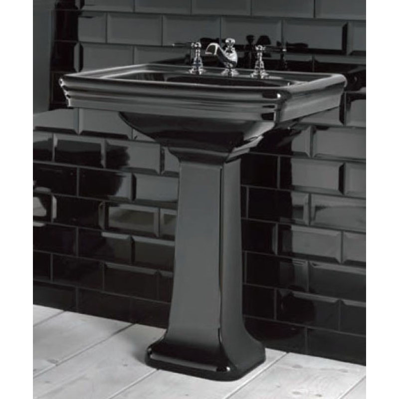Imperial Etoile Black Basin and Pedestal at Bathroom City