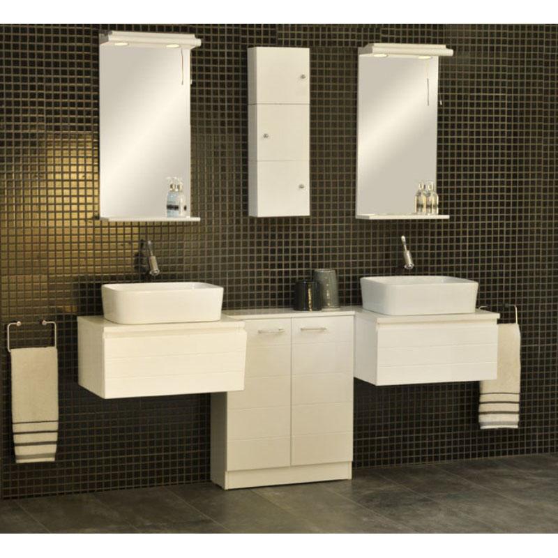 Kitchen Lighting Pelmet: Bathroom H770mm W700mm Spark Med Mirror With Cabinet Unit