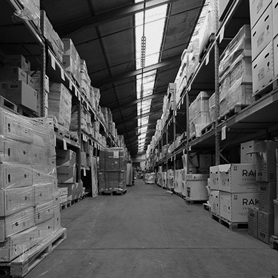 A neatly organised and efficient storage warehouse
