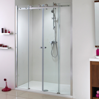 Phoenix Motion Twin Sliding Door Shower Enclosure at Bathroom City