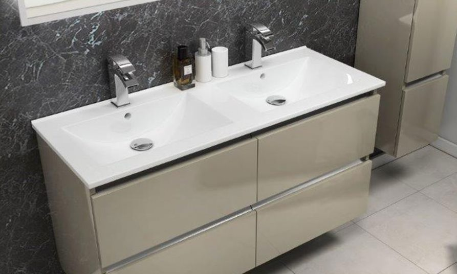 install a double vanity