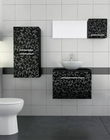 Patterned Wall Hung Vanity Units and Bathroom Furniture at Bathroom City