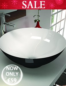 Ceramic black and white basins Featured image - Monao round basin