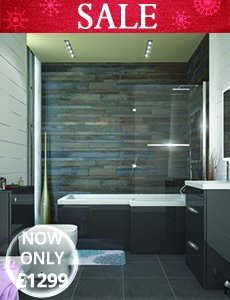 Cheap Grey Shower Bath Suite - menu image