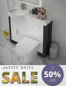 white Patello double bathroom basin and vanity unit featured image