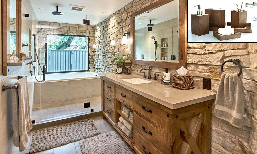 Natural Wooden Effect Bathroom