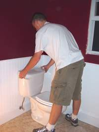 wc toilet installation