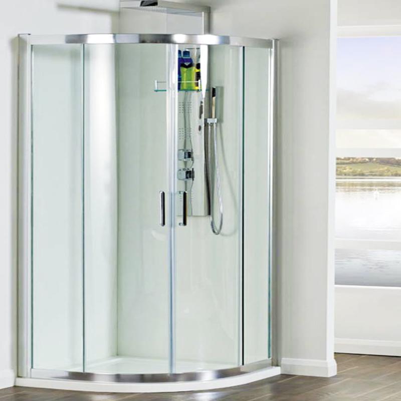 Phoenix Spirit 8mm 900 Quadrent (2m Hight) Shower Enclosure Includes ...