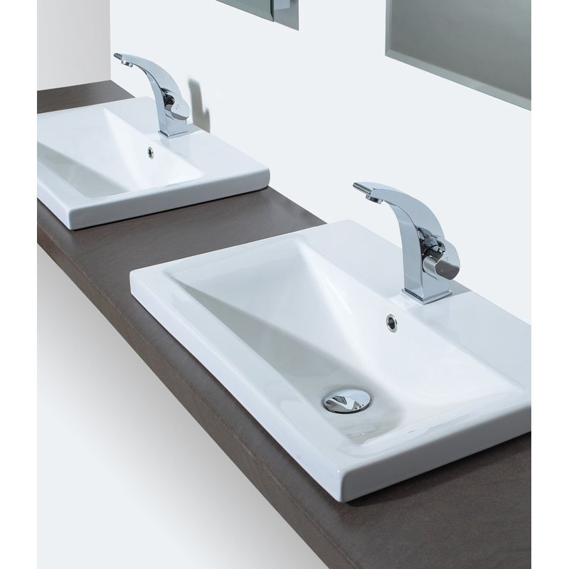 Clever counter top bathroom basin buy online at bathroom city - Slim cloakroom basin ...