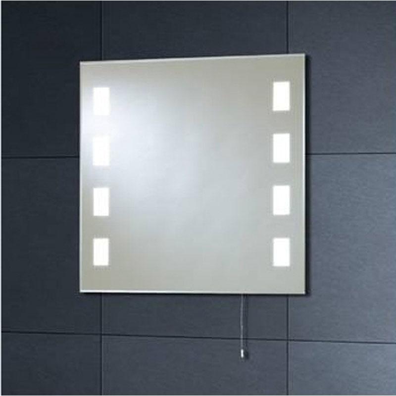 Mi007 60x60 back lit mirror 8 square buy online at for Miroir 60x150