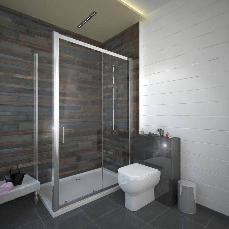 Romano Deluxe 1200 Sliding Shower Door Buy Online At