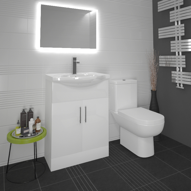 Ecco 65 Suite Unit And Basin Close Coupled Toilet Buy Online At Bathroom City