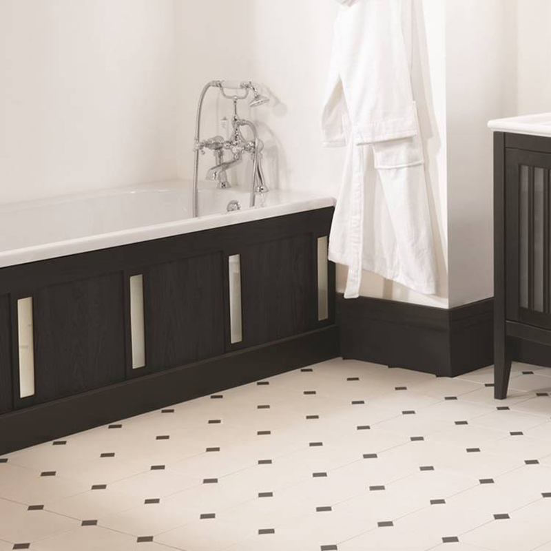 Linea Bath Front Panel With Frosted Glass Inserts Buy Online At Bathroom City