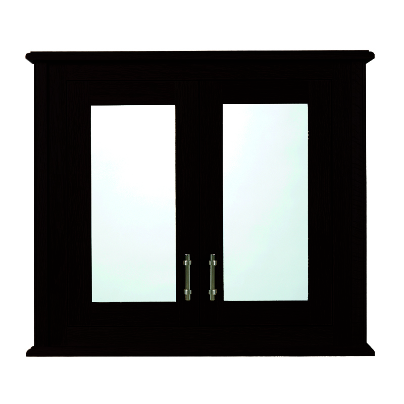 Thurlestone wall cabinet with 2 doors wood mirror glass for Bathroom 2 door wall cabinet